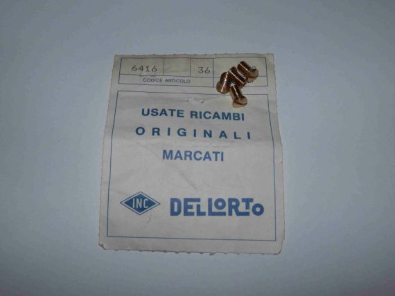 DELLORTO-DHLA-DRLA-BUTTERFLIES-SECURING-SCREWS-6416-ORIGINALS